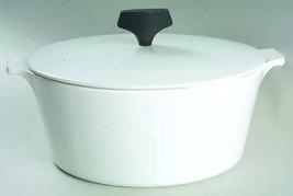CORNING WARE BUFFET SERVER 4QT WHITE COUPE BOWL WITH LID SOLID MADE IN U... - $58.40
