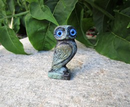 Bronze Owl Figurine, Goddess Athena Wisdom Owl Collectible - $18.70