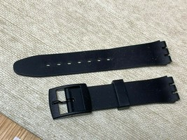 12MM SWATCH REPLACEMENT PLASTIC WATCH BAND BLACK SMOOTH - $7.67