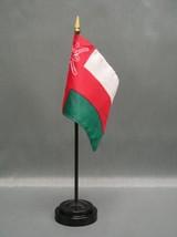 "Oman 4X6"" Table Top Flag W/ Base New Desk Top Handheld Stick Flag - $4.95"