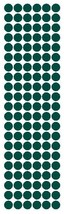"3/8"" Dark Green Round Vinyl Color Code Inventory Label Dot Stickers - $1.98+"