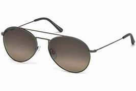 New Tod's TO 189/S Sunglasses 12F Ruthenium w/Brown Gradient 57-18-145MM - $113.85