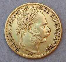 Hungary 1888 KB 20 Francs 8 Forint Gold Coin KM# 467 - $420.00