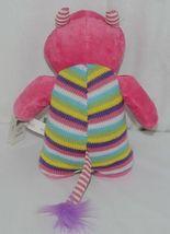 GANZ Brand H12598 Pink Multi color Striped Knit Wit Monster image 3