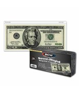 (50) BCW Currency Topload Holder for Regular Bills Semi Rigid - $12.68