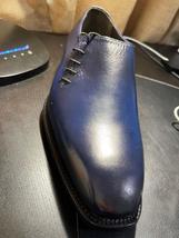 Handmade Men's Blue Leather Dress/Formal Shoes image 4
