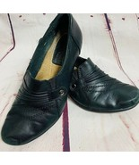 Earth Origins Rochester Black Leather Comfort Shoes 8.5 M - $23.00