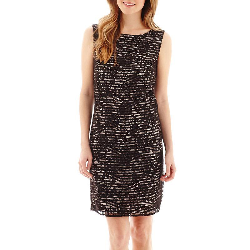 Stella Parker Sleeveless V-Back Lace Sheath Dress Size 2 New Msrp $70.00