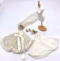 Vintage 1950 Madame Alexander Cissette Doll Bridal Wedding Gown Tagged C... - $118.80