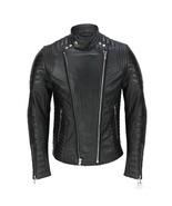 NEW HANDMADE Mens Genuine Real Lambskin Leather Motorcycle Jacket, New M... - $169.99+