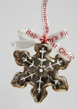 Roman 36772 Babys First Christmas Snowflake Ornament Color Silver image 2