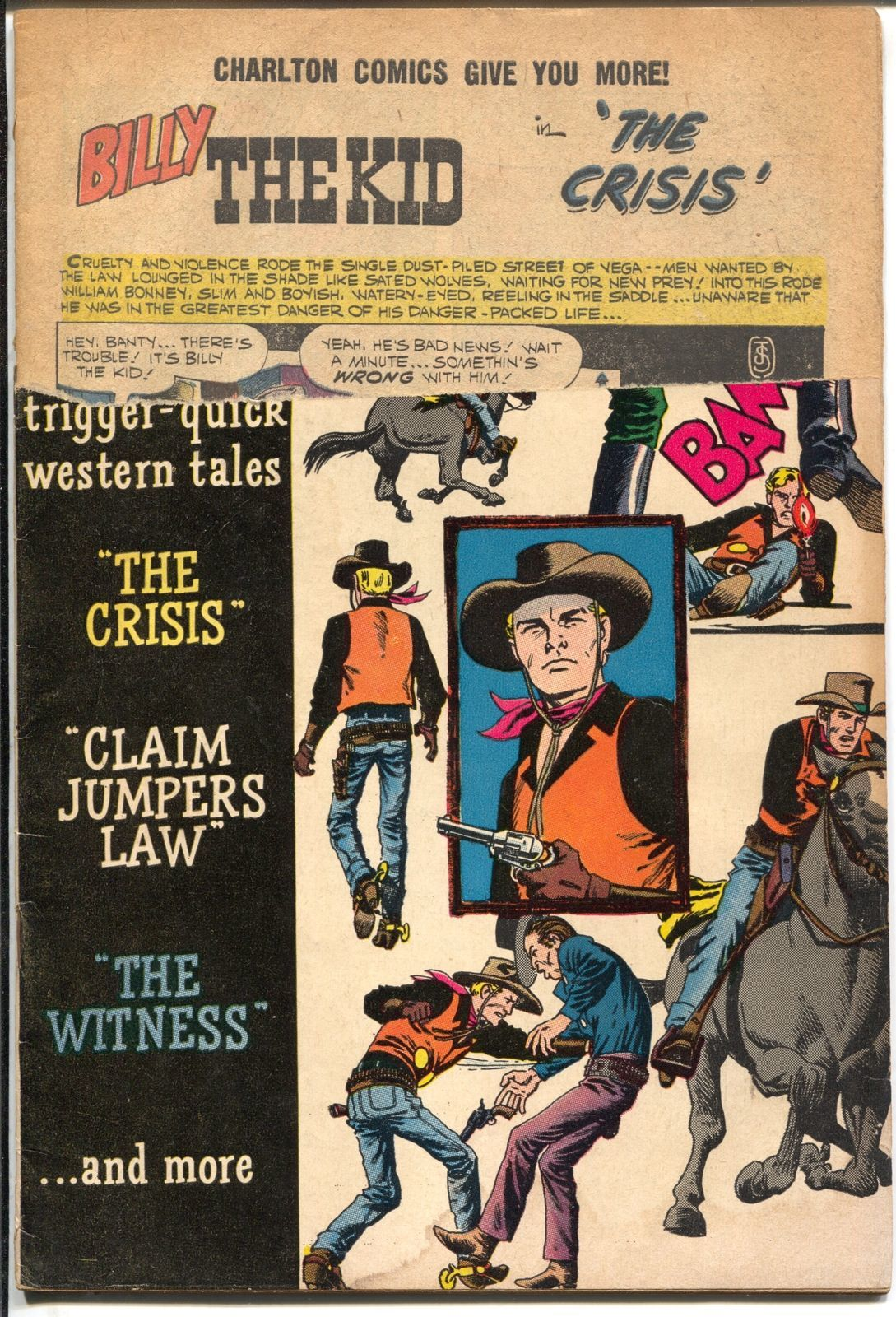 Billy The Kid #22 1960-Charlton-John Severin-Rocky Lane-P
