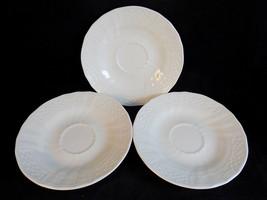 Set of 3 Mikasa Renaissance White Saucers Japanese Porcelain D4900 6.5 ... - $16.82