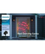 Philips Christmas Laser Projector Dancing Santa Red and Green Dot Patter... - $19.95