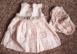 Girl's Size 9 M Months 2 Piece Floral Designed W/ Bows Dress Set Ruffled... - $15.00