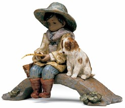 Lladro Retired 01012237 The Old Fishing Hole 2237 Brand New In Box - $924.85