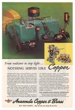 Anaconda Copper Brass '40s Bronze Industrial Advertisement Original Ad V... - $6.89