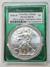2020 P SILVER EAGLE Dollar $1 EMERGENCY ISSUE PCGS MS70 FDOI Coin sku c140 image 1