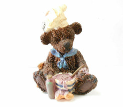 "K's Collection 4"" Teddy Bear Wearing a Chef Hat&Mixing Batter in a Bowl ... - $9.89"