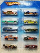 NEW! Hot Wheels 10 Car Pack T5048-0910 2010 Exclusive Mattel!! - $49.47