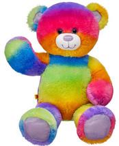 NEW Build a Bear Rainbow Glitter Teddy 16 in. Stuffed Plush Toy Animal P... - $89.99