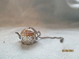 Silver Plated Tea Pot Infuser Circa 1940s RD No 883376 - $8.27