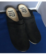 MAGUBA Swedish Stapled Clogs- Black Suede Nubuck Size 40 EU/ 9-9.5 US - $49.45