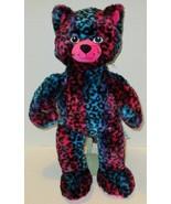 """BUILD A BEAR WILD ABOUT SPOTS PURPLE BLUE PINK LEOPARD CAT 18"""" PLUSH DOL... - $9.99"""