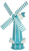 6½ FOOT JUMBO WINDMILL - Aruba Blue & White Working Garden Weathervane A... - $695.60 CAD