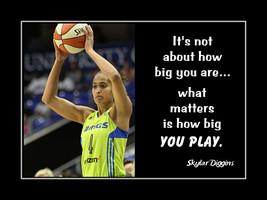 Inspirational Basketball Poster Skylar Diggins Daughter Motivation Wall art - $19.99+