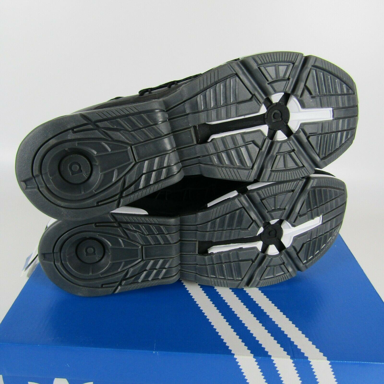 Adidas Twinstrike Adv Elástico Cuero Casual Zapatos Negros Blanco B28015 Size 13 image 7