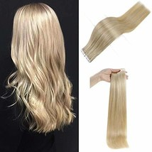 Full Shine 18 Inch Light Blonde #613 Tape in Premium Remy Human Hair Extensions