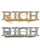 RICH Ring 2 - 3 Finger New Iced Out High Fashion Back Plate Design - $27.23