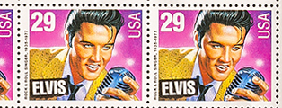 Elvis Presley 1935-1977, 2 Packages of 29 cent stamps, sealed, mint, 40 stamps