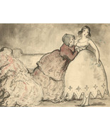 Harold Hope Read (1881-1959) - Pen and Ink Drawing, A Tight Dress Fitting - $252.42