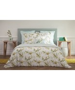 Yves Delorme Lucine Queen Flat Sheet Floral Guipure Lace Egyptian Cotton... - $165.00