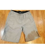 The North Face Men's Pull-on Zipper Shorts Gray Nylon Elastic Waist Pock... - $29.65