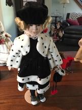 "Design by Yoko Doll, ""Polka Dot Girl"", Black/White Winter Outfit, 18""   - $80.00"