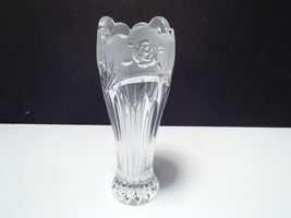 Cut Rose Vase ~~ Frosted ~ - $4.99
