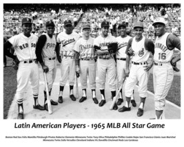 MLB 1965 All Star Game Latin American Players Picture 8 X 10 Photo Pictures - $6.29