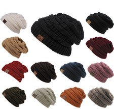 Women's Soft Stretchable Cable Knit Snowboard Beanie Winter Cap Fashion ... - $5.89 - $14.01