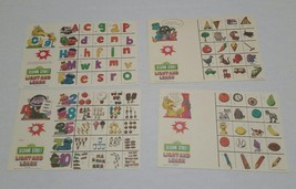 Sesame Street Light & Learn Replacements Complete Set of 10 Double Sided... - $6.99