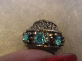SILVER Sapphire rhinestone European Charm Bead with Pandora bag - $15.00
