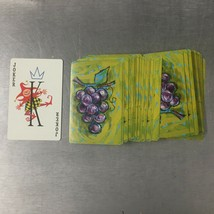 Vintage Kent Plastic Coated Playing Cards - Grape Design - OPENED USED - $2.09