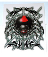 2004 NEW Steve Nazar Design Totally Boy Black Widow Spider Non-Toxic Tem... - $9.38