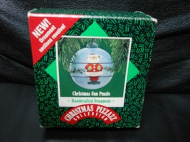"Hallmark Keepsake ""Christmas Fun Puzzle"" 1987 Revolving Ornament NEW - $5.59"