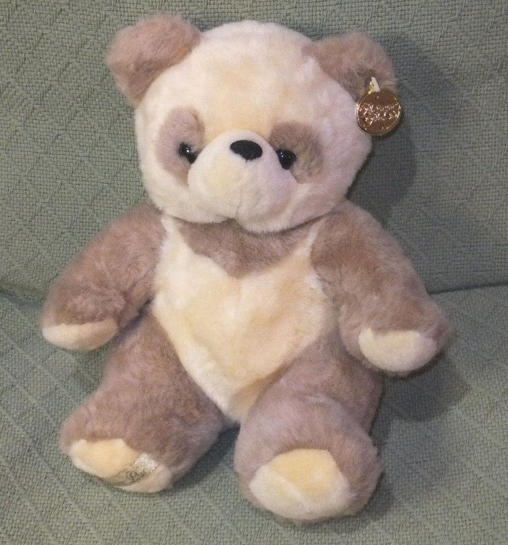 "12"" Platinum Plus Panda Teddy Bear CREAM Colored Plush Golden Ear Tag Cuddly image 7"
