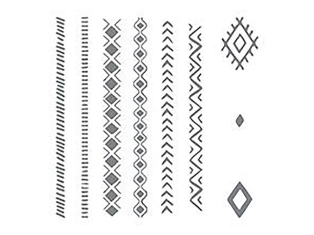 Stampin' Up! Bohemian Borders 9 Piece Clear Cling Stamp Set #138938
