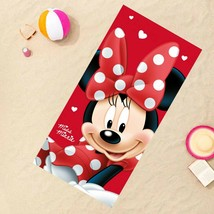Disney Minnie Mouse Beach Pool Bath Towel*Summer Girls Cute Gift*Soft Cotton NEW - $12.77