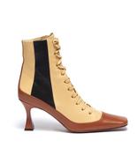 MANU ATELIER Duck Colourblock Patchwork Leather Lace-up Ankle Boots - $389.00